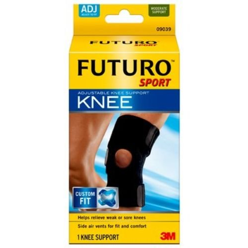 3M Health Care 09039ENT Knee Support, Adjustable, One Size, Black (Pack of 12)