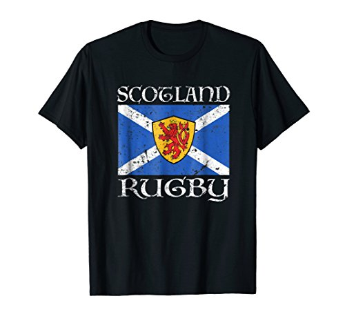Scotland Rugby T Shirt Scottish Flag Vintage Saltire Gift