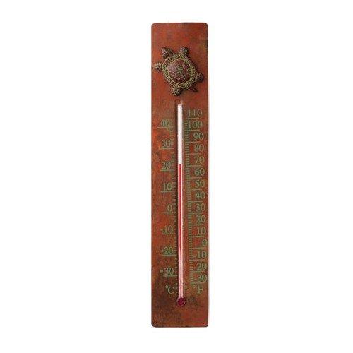 Ancient Graffiti Copper/Cast Brass Turtle Thermometer (Ancient Graffiti Thermometer)
