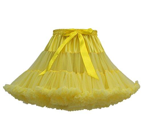 Adulte Danse Tutu Tutu Jupes Tulle Jupon Petticoat Tulles Bouffante Femme Jupe Courte Pettiskirt Ruffle Fille Classique Deguisement Princesse Clair Jaune Froufrou Dguisement Jupe Ballet 0Xq84wd8