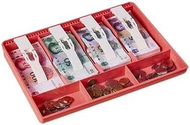 Bandeja de comida – Durable dinero dinero efectivo caja de almacenamiento dinero efectivo bandeja de dinero cajero organizador de escritorio: Amazon.es: Oficina y papelería