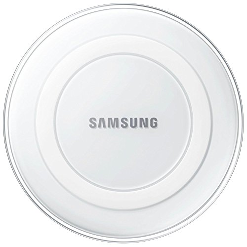 (Samsung EP-PG920IWUGUS Qi Certified Wireless Charging Pad with 2A Wall Charger -Supports wireless charging on Qi compatible smartphones including the Galaxy S8, S8+, Note 8, Apple iPhone 8, and 8 Plus (US Version) - White Pearl)