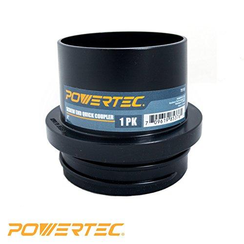 (POWERTEC 70193 Screw End Quick Coupler, 4