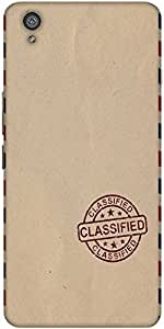Snoogg Classified Stuff Designer Protective Back Case Cover For One Plus X