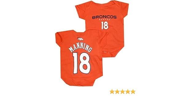 e32def6a0 Amazon.com  Denver Broncos Peyton Manning Infant Baby Orange Creeper  Bodysuit (6-9 Months)  Sports   Outdoors
