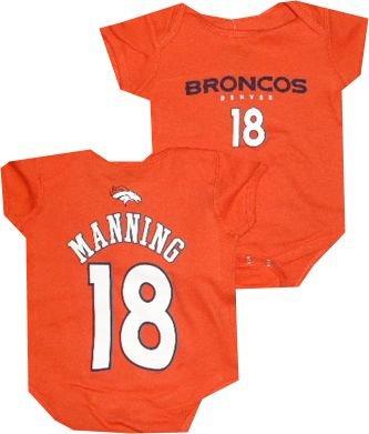 ecd758420 Denver Broncos Peyton Manning Infant Baby Orange Creeper Bodysuit (6-9  Months)