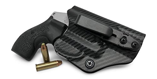 Concealment Express: S&W J Frame 442/642 Tuckable Ambidextrous IWB KYDEX Holster - Custom Fit - US Made - Concealed Carry Holster - Fully Adjustable (CF BLK, Tuck)