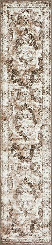 Unique Loom 3141342 Sofia Collection Area Rug, 2' x 10' Runner, Light Brown
