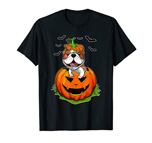Jack The Bulldog Halloween (Cute Halloween Bulldog Lovers Pumpkin Grunge Jack O Lantern)