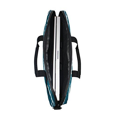 jstel Wasser Wellen Laptop Schulter Messenger Tasche Fall Sleeve für 35,6cm zu 39,6cm mit verstellbarer Notebook Schultergurt