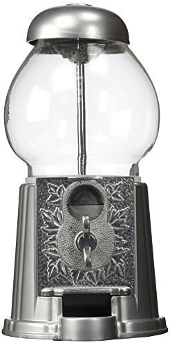Petite Antique Silver Gumball Machine (Silver, 9