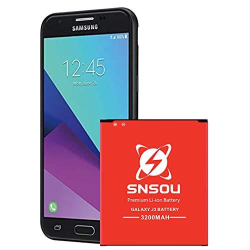 Galaxy J3 Battery, SNSOU 3200mAh Li-ion Battery for Samsung Galaxy J3 J320V J320A J320F J320P J327A J327P EB-BG530BBC EB-BG530BBE/ Galaxy On5 Battery/ Galaxy Grand Prime SM-G530 Battery
