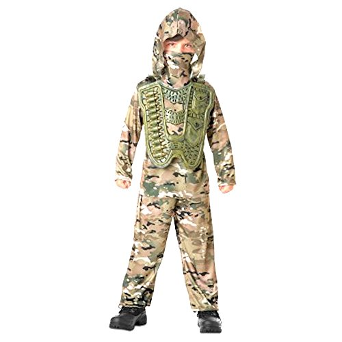 Seasons Desert Commander Boys Costume XL 14-16 Brown, Green