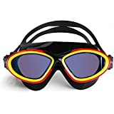 BESTEK Swimming Goggles Large Frame Waterproof Anti-Fog UV-Resistance Comfort fit Easy Clip Crystal Vision Swimming Glasses for Swimming Competitive Racing Dives for All Adults, Women and Men