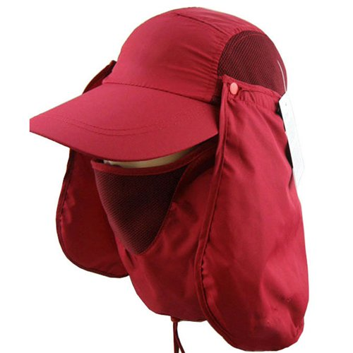 3CERA® Outdoor 360 UV protection Sun block hat Folding visor fishing Nylon Cap hiking - Mall Sun East