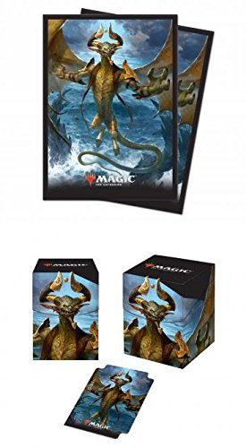 BUNDLE: Magic: the Gathering - Core 2019 - Nicol Bolas, the Arisen (100+ Deck Box & 80 Protector Sleeves)
