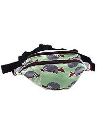 LParkin Sloth Gifts Bag Pack Hip Waist Bag Canvas Bum Belt Hip Pouch Bags