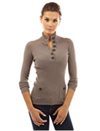 PattyBoutik Women's V Neck Button Ribbed Sweater