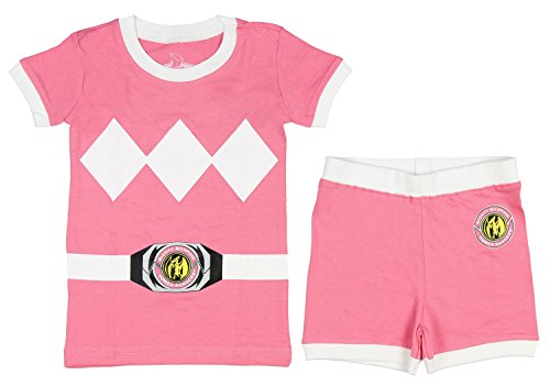 2t Pink Power Ranger Costume (Intimo Power Rangers Toddler Character Cotton Pajamas (Pink, 2T))