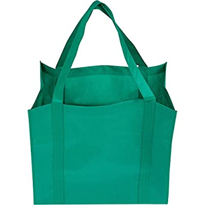 Grocery Shopping Bags - 6 Super Strong & Extra Large Reusable Grocery Store Bags with Reinforced Handles - Built for years of Use - Packed in a Premium Quality Gift Storage Box