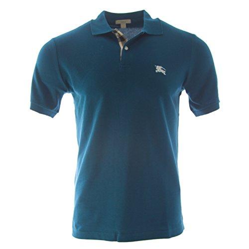 Burberry+Brit+Men%27s+Check+Placket+Polo+Shirt+%28Large%2C+Regatta+Blue%29