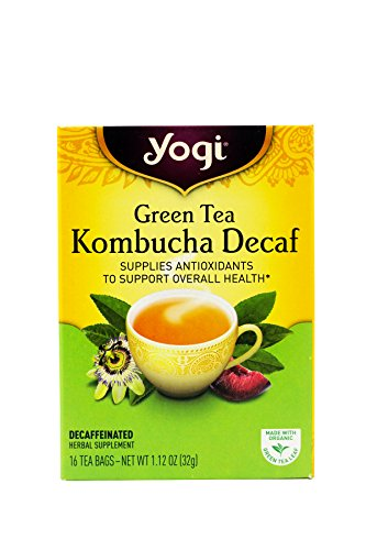 Yogi Herbal Green Tea Caffeine Free Kombucha - 16 Tea Bags (Pack of 6) - Pack Of 6 - Yogi Caffeine Free Tea