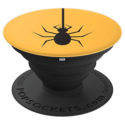 Cute Spider Spin Web Halloween Cartoon Drawing - PopSockets Grip and Stand for Phones and Tablets ()