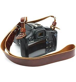 Amazon.com : Handmade Genuine Real Leather Camera Strap Neck Strap ...