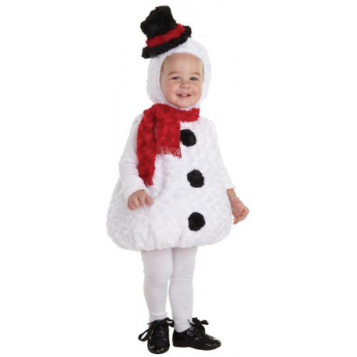 Snowman Toddler Costumes (Underwraps Baby's Snowman Bally, White/Black/Red, Large)
