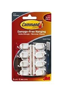 Command Small Cord Clips, 8-Clip