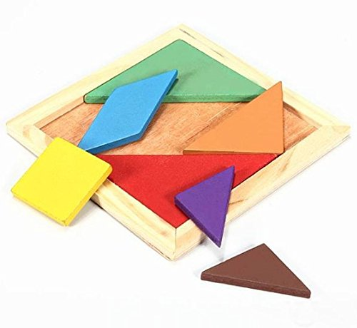 Wooden IQ Game Jigsaw Intelligent Tangram Brain Teaser Puzzle Baby Kid Toy (Nerf Race)