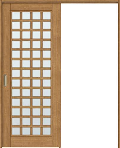 ラシッサS 上吊引戸 片引戸標準 ASUK-LGS 1420J 錠付 W:1,454mm × H:2,023mm ノンケーシング 本体/枠色:クリエモカ(MM) 勝手:左勝手 枠種類:95mm幅(ノンケーシング枠) 引手(シャインニッケル) 床見切り:なし 機能:ブレーキ プッシュ錠:表示錠(シャインニッケル) 錠加工位置:標準位置 LIXIL リクシル TOSTEM トステム