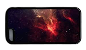 Hipster best iPhone 5C cover space red nebulae Black for Apple iPhone 5C