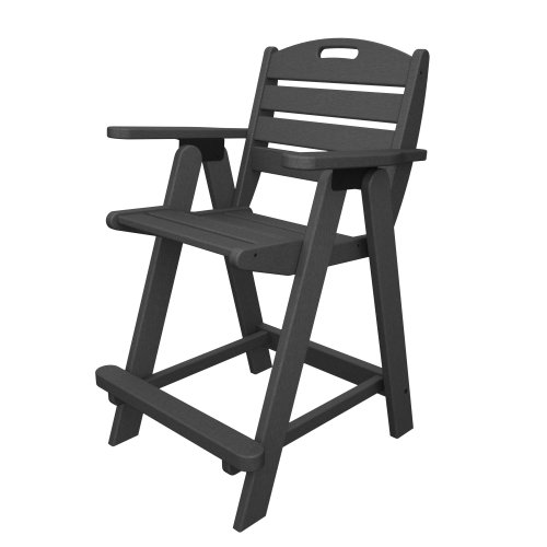Polywood Nautical Counter Height Chair in Slate Grey
