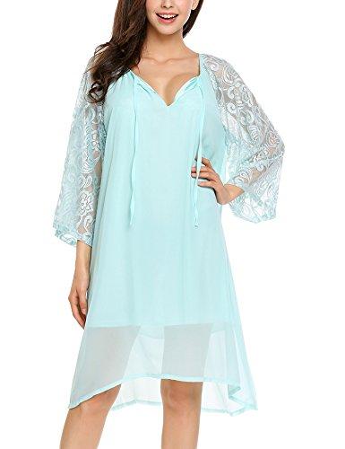 追放する免除ブートZeagoo DRESS レディース US サイズ: 3L カラー: ブルー