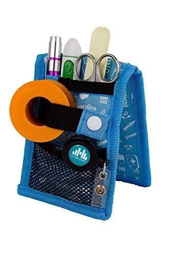 MINIKEENS, Salvabolsillos enfermera, Estampado azul, Mobiclinic