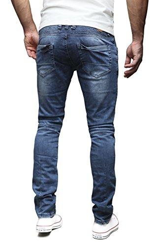 Modell Blu J1166 Scuro Fit Chino Merish Uomo Moderno Pantaloni Colori Slim Jeans 4 PFPz1Swqn