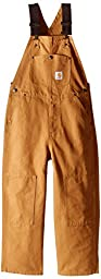 Carhartt Big Boys\' Washed Bib Overall,Carhartt Brown,8