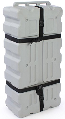 Displays2go Storage Case for Transportation of Your Trade Show Exhibit Displays and Accessories, Adjustable Nylon Straps, Large Interior Space - Molded Plastic (TSCASE5328)