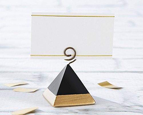 42 Gold Dipped Pyramid Place Card Holders by Kateaspen