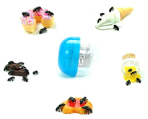 Sweet Little Ants Fake Simulated Insects Prank Toy Japanese Gashapon Blind Box Capsule Toy (1 Random Figure)