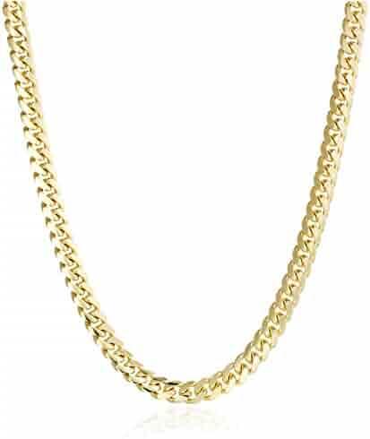 Men's 14k Yellow Gold Miami Cuban Chain Gauge 180 6.5mm Chain Necklace