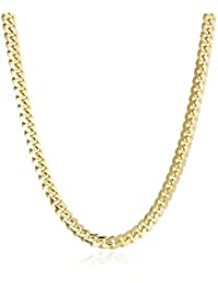 Men's 14k Yellow Gold Miami Cuban Chain Gauge 180 6.5mm Chain Necklace