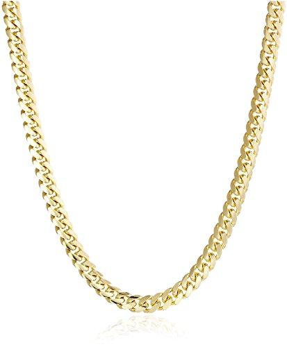 Men's 14k Yellow Gold Miami Cuban Chain Gauge 180 6.5mm Chain Necklace, 26