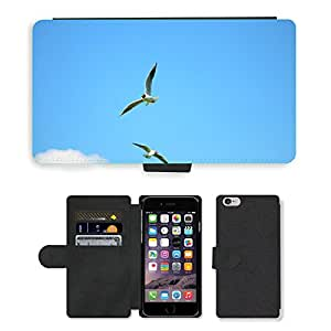 Super Stella Cell Phone Card Slot PU Leather Wallet Case // M00145016 Bird Seagull Animal Water Bird Sea // Apple iPhone 6 4.7""