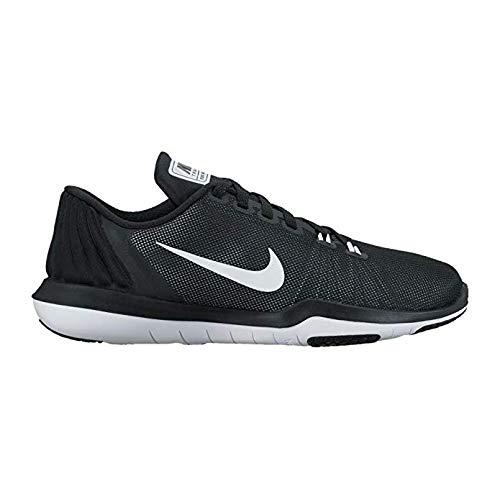 Nike Big Kid's Flex Supreme TR 5 Training Athletic Shoe (7 Big Kid M, Black/White) (Nike Flex Supreme Tr 5 Training Shoe)