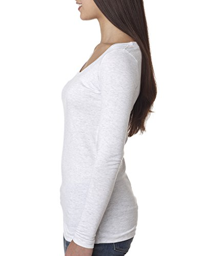 Next Level - Camiseta de manga larga - para mujer HEATHER WHITE