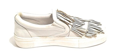 In Ds18pi23 Slipon Col Bianco Nappe Pelle Con Scarpe Pixy Donna wxq77P
