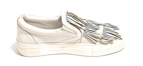 Ds18pi23 Slipon Pelle Donna Scarpe Bianco Con Col In Nappe Pixy q4wPWyEzE