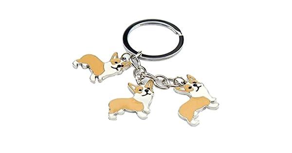 Amazon.com: Metal Key Ring Corgi perro cachorro Juguete ...